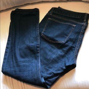 Gap always skinny dark wash jeans